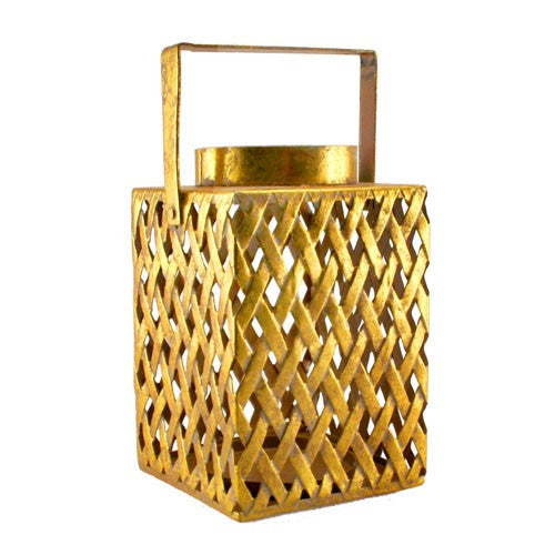 "ZELMIRA GOLD LANTERN 7""D x6""H +3.5"" Handle"