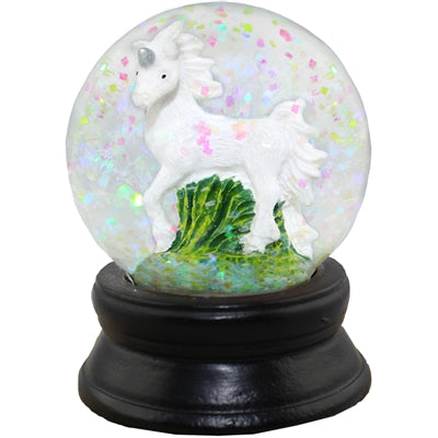 Unicorn Confetti Small Snow Globe 1.813 x 2.375 Dia (White)