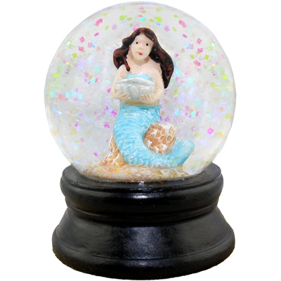 Small Seashell Mermaid Snow Globe 1.813 x 2.375 Dia