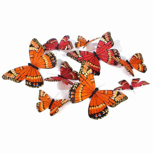 "BRIGHT SPRING COLORED 9 BUTTERFLY GARLAND 4.5x79""h"