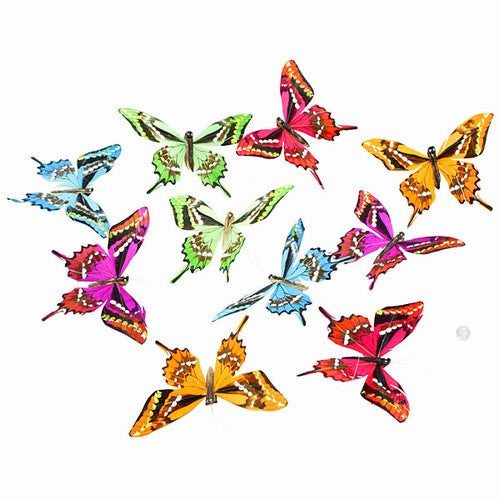 "VINEYARD HARVEST GLITTER BUTTERFLY GARLAND 5x78""h"