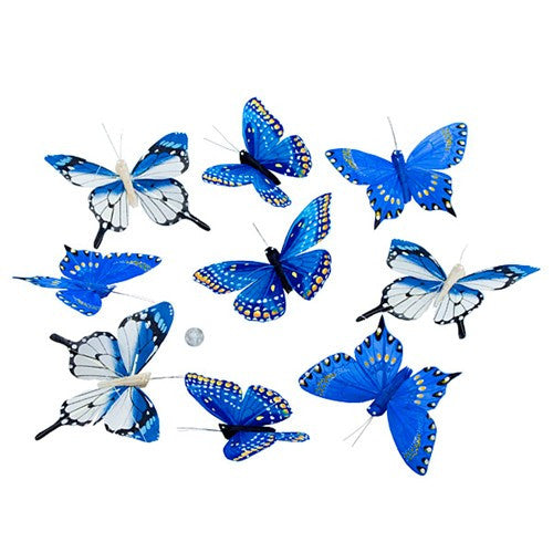 "SHADES OF BLUE BUTTERFLY GARLAND 4x78""h"