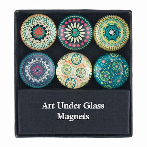 "SPYRO GLASS MAGNETS  6/SET 1.375""Dia"
