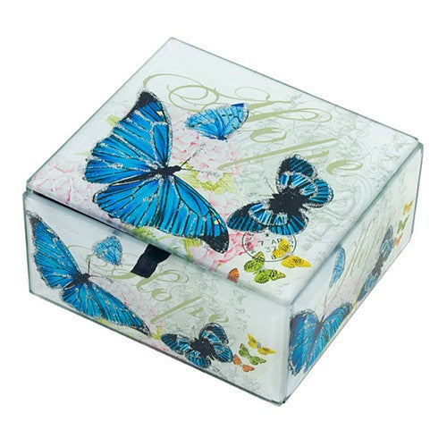 "PAPILLIONS GLASS BOX 5.125x3.25x2.25""h"