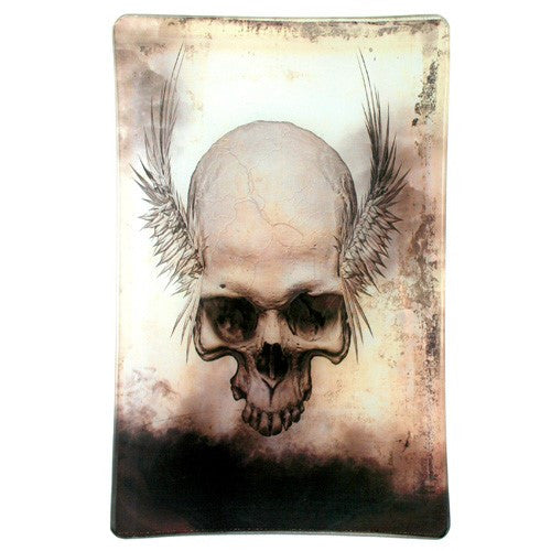 "Decorative Skull Trays (3.75 x5.75""L, Skeleton Friend Tray)"