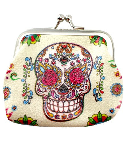 SUGAR SKULL COIN PURSE 3.125x4.5