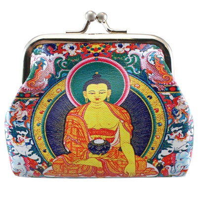 Colorful Buddha Clasp Coin Purse