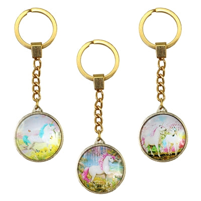 3 Piece Set of Unicorn Paradise Keyring