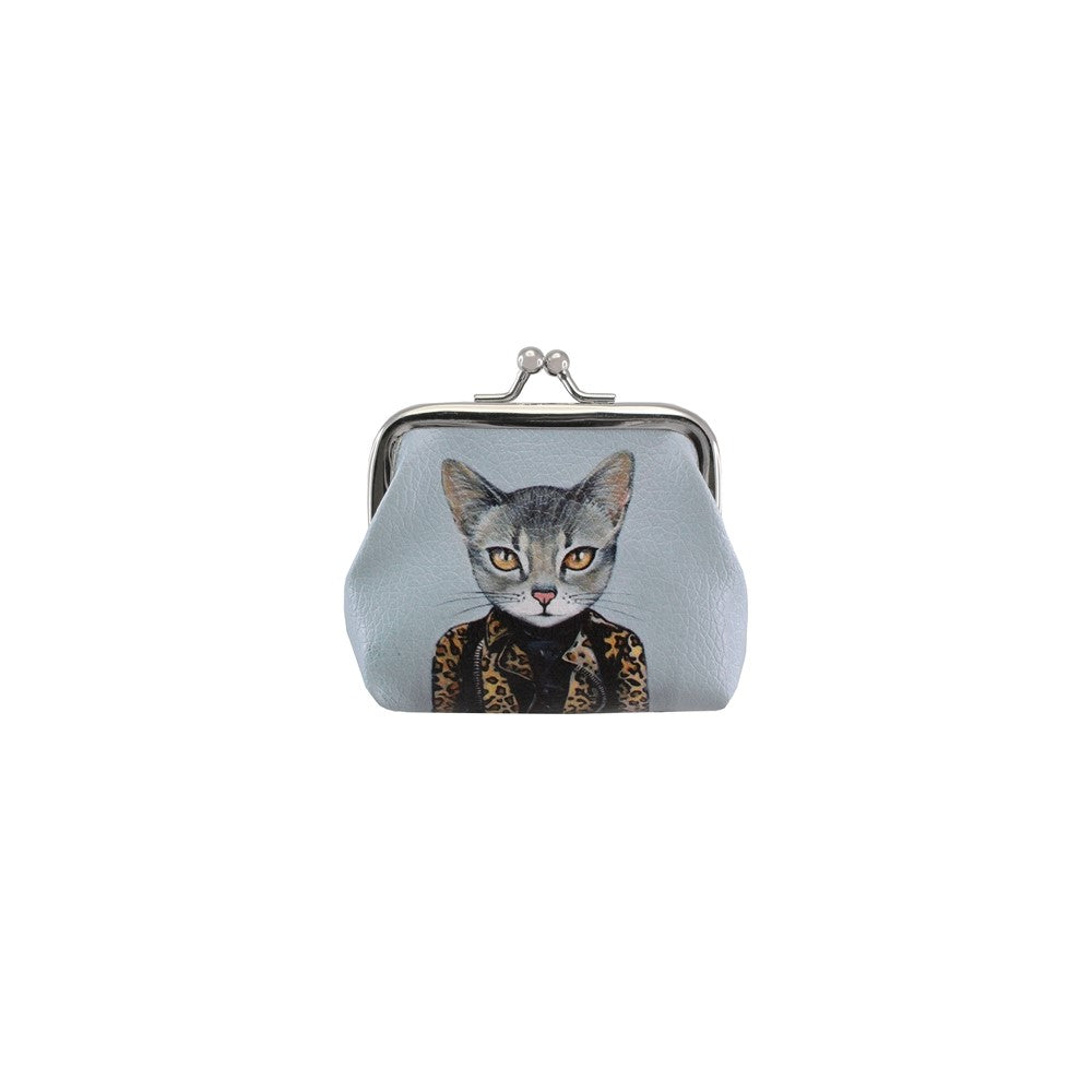 "Cat Coin Purse 3.75x3.25""H"