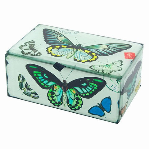 BUTTERFLY GLASS BOX 5.25x3.25x2.25""