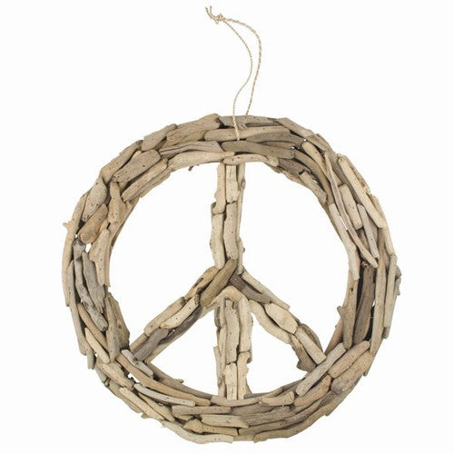 "DRIFTWOOD PEACE SIGN LARGE 19"" Dia x 2.5"""
