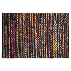 RIO MIDNIGHT RAINBOW WOVEN RUG CTN/PLY 23x41""