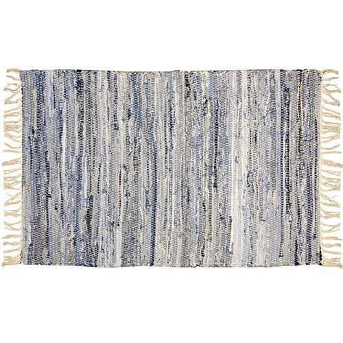 "TERRACE DAWN DENIM RUG 24.5 x 39.5""W"