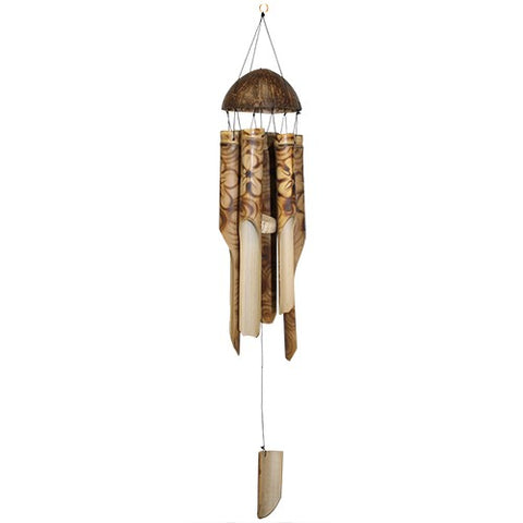 Burnished Floral Bamboo Chime