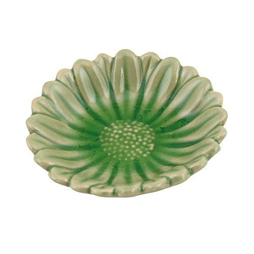 "RIVER FLOWER TRAY MOSS CERAMIC 3.25Dia x .625""H"