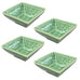 "Set of 4 River Moss Square Dish 2.25 x 2.125"" H"