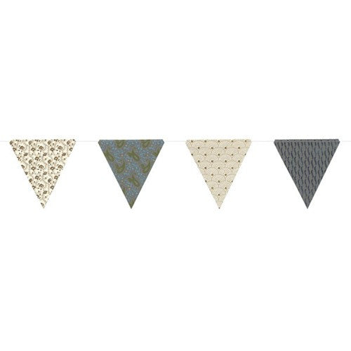 PAPER TRIANGLE BUNTING ASSORTED COLORS 8x7.75x10'L (Blue)