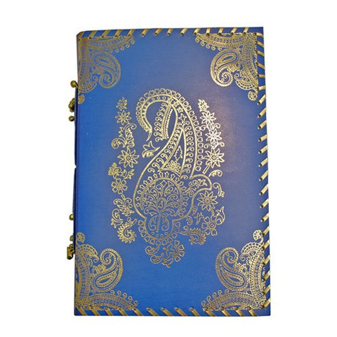 "EMBOSSED MEDALLION BROWN LEATHER JOURNAL 8.125x1x11.75""H"