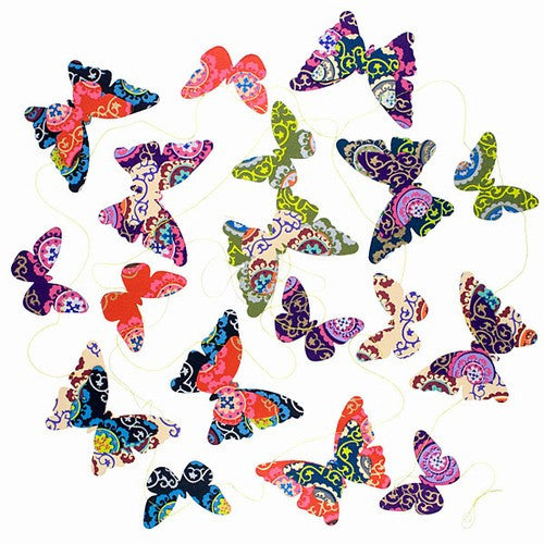 9 Butterflies Paper Garland Mobile 3D (Summer