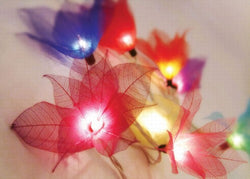 Flower Lights (Fire - Red/Yellow) From the Leaves of a Bohdi Tree