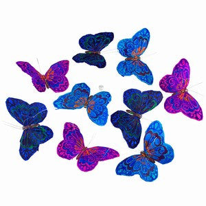 "VINEYARD EVE GLITTER BUTTERFLY GARLAND 6x4x78""H"