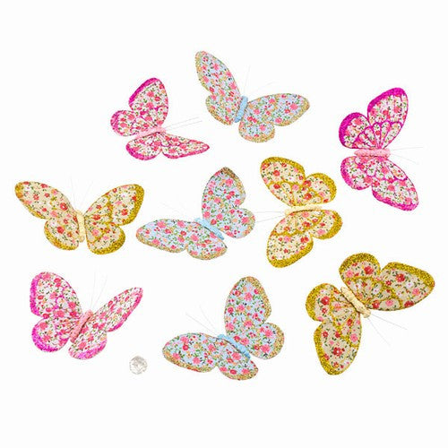 "ROYAL JEWELED BUTTERFLY GARLAND 2.25x4x78""H"
