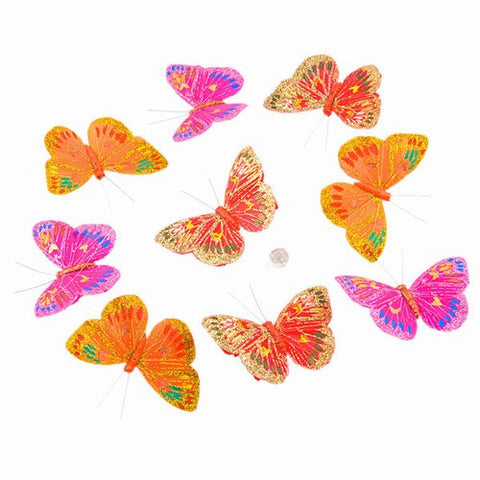 "SUMMER SUNSET BUTTERFLY GARLAND 2x3.5x78""H"