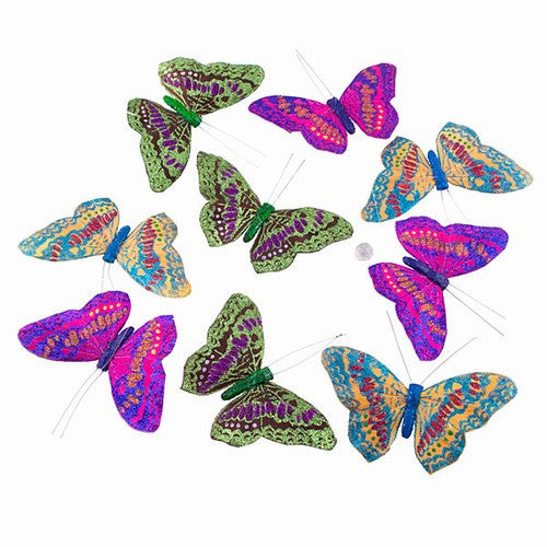 "RAINBOW MONARCH BUTTERFLY GARLAND 4.25x1.75x78""l"