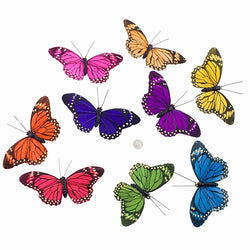"COLORFUL ROYALS BUTTERFLY GARLAND 3.25x78""h"