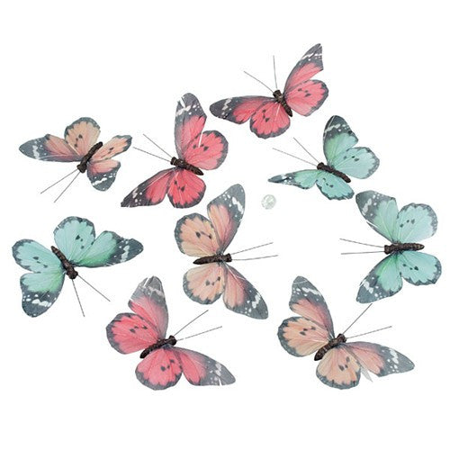 "PALE WHITE BUTTERFLY GARLAND 5.25x2.75x78""l"
