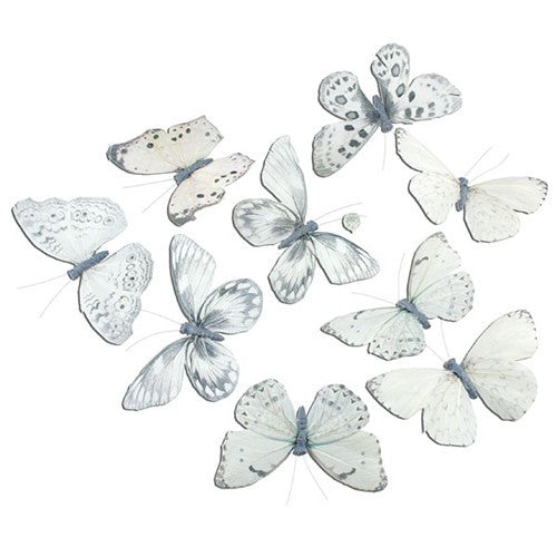 "PALE WHITE WITH BLACK BUTTERFLY GARLAND 5x2.5x78""l"