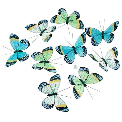 "SUNSET FLASH BUTTERFLY GARLAND 4.75x2.25x78""l"