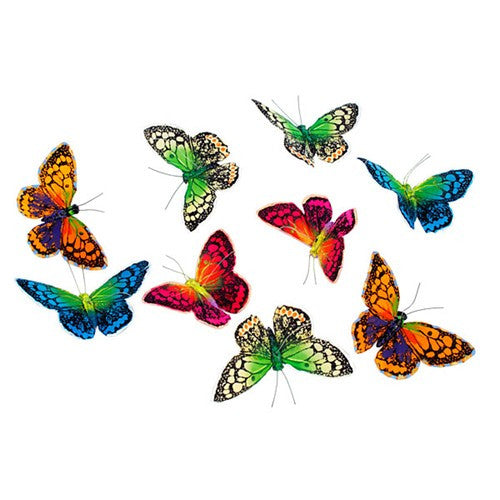 "EVENING FOREST BUTTERFLY GARLAND 4.5x2.25x78""l"