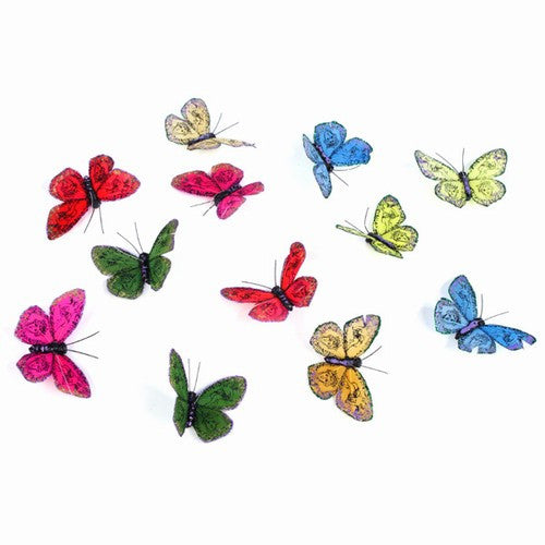 "NATURAL TONES BUTTERFLY GARLAND 3.5x78""h"