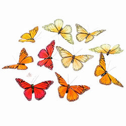 Animal World - Red and Orange Monarch Butterfly Garland - Multi