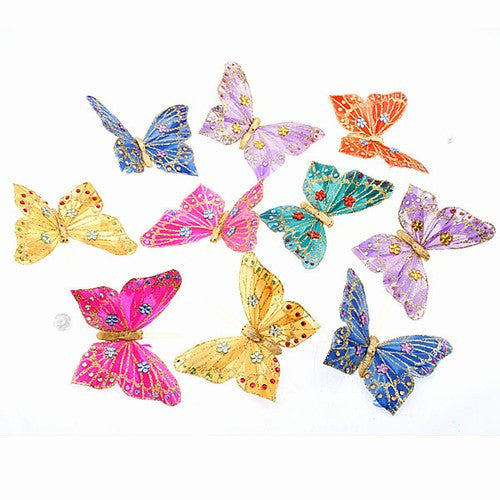 "VINEYARD SKY BUTTERFLY GARLAND 5.25x78""h"