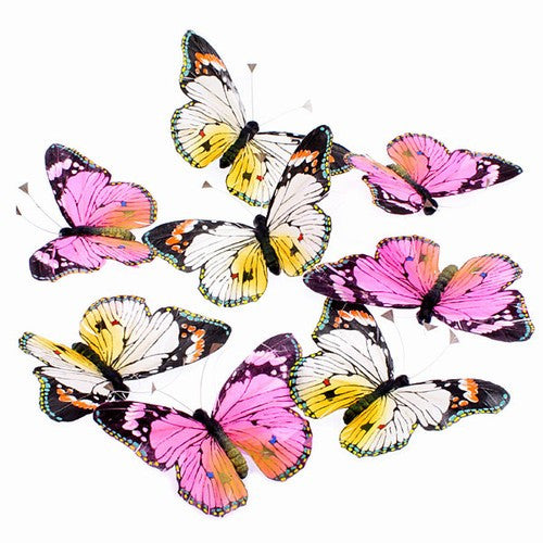 "ROYAL FALL BUTTERFLY GARLAND 5x78""h"
