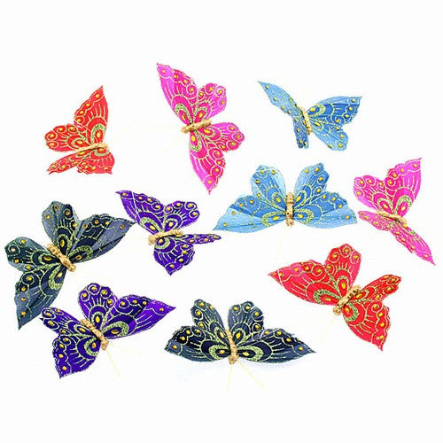"SPRING EVE BUTTERFLY GARLAND 4.25x78""h"