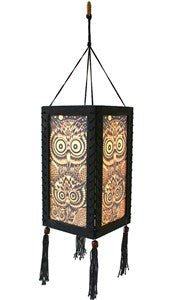 Wood and Paper Hanging Lampshade (Tree of Life)