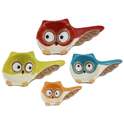 Owl Ceramic 4 Piece Measuring Cups