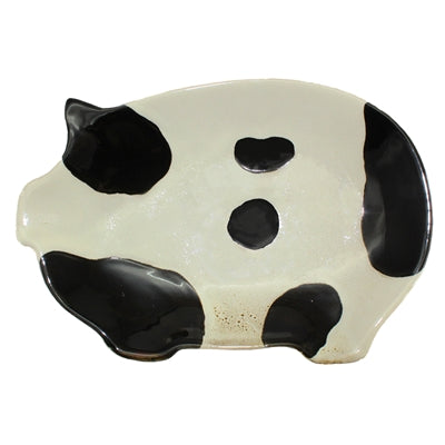 Cow Print Pig shaped Tray