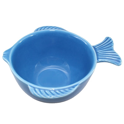 Blue Ceramic Fish Bowl