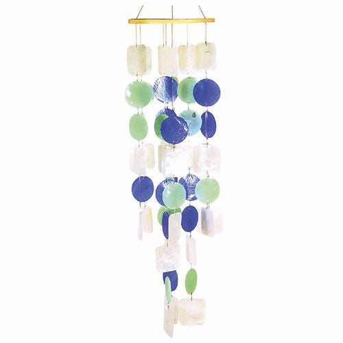 Wind Chime Capiz Shell Indoor Outdoor Garden Decor #2