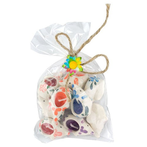 "BAG OF LITTLE HEART CANDLES 10 PIECES 1.125x.625""h"