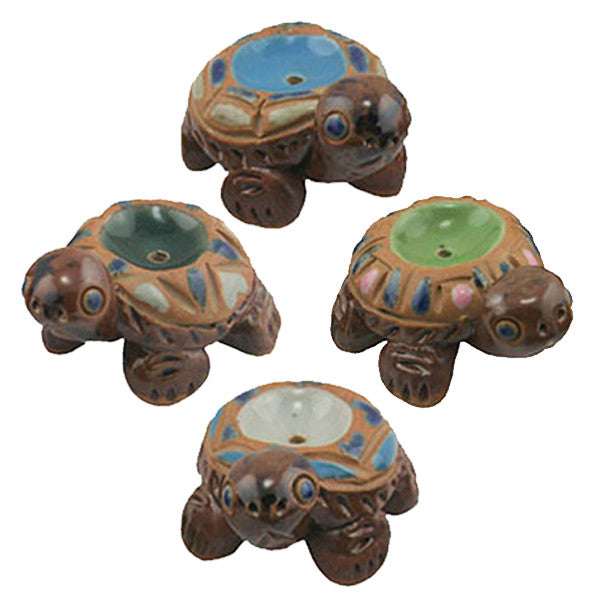 "CERAMIC TURTLES INCENSE HOLDER 1.75 x1.5""H"