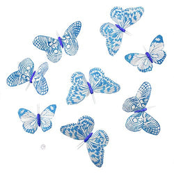 Aqua Fantasy Glitter Butterfly Garland 8Pc