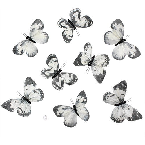 Gray Dawn Butterfly Garland 8Pc