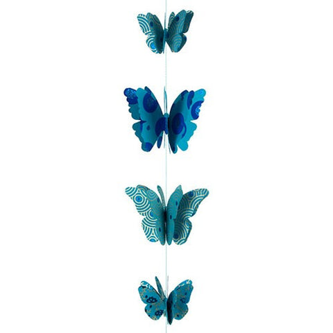 9 Butterfly paper Garland Mobile 3D (Music Notes)