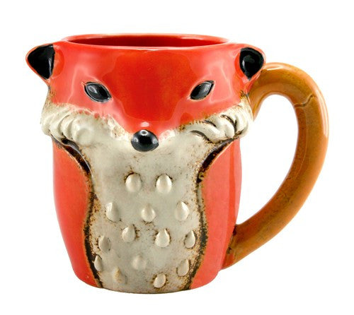 Ceramic Fox Mug, 9.5 x 7.5 x 11 in
