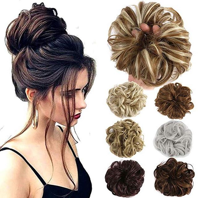 Hair Bun Hairpieces Scrunchies to Create a New Hairstyle
